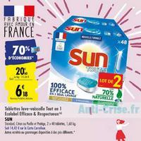 Tablettes Sun Tout en 1 chez Carrefour (25/05 – 08/06)