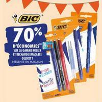 Gamme Roller et Recharge Effaçable Gelocity BiC chez Carrefour (25/05 – 08/06)