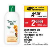 Shampoing Bio Timotei chez Cora (26/05 – 01/06)