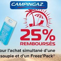 Offre de Remboursement Campingaz : 25% Remboursés sur 1 Glacière Souple + 1 Freez'Pack®