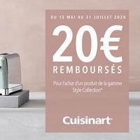 Offre de Remboursement Cuisinart : 20€ Remboursés sur 1 Appareil Style Collection