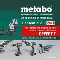 Bon Plan Metabo : 1 Machine Achetée = 1 Accessoire Offert