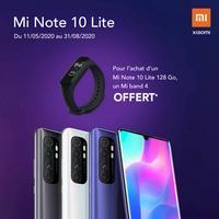 Offre de Remboursement Xiaomi : 1 Mi Note 10 Lite Acheté = 1 Mi band 4 100% Remboursé