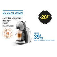 Leclerc : 20€ sur Cafetière Krups Mini Me (25/05 – 30/05)