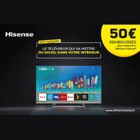 Offre de Remboursement Hisense : 50€ Remboursés sur TV