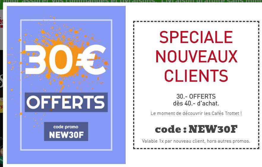 Café Trottet : 30€ de réduction pour 40 d'achats ( nouveaux clients)