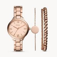 69€ le coffret cadeau montres  Fossil Suitor pour femmes