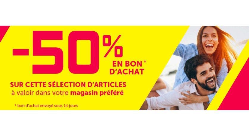 Gifi : 50% en bons d'achats tous les produits magasins ou sur une sélection web