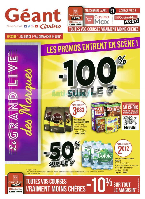 Catalogue Géant Casino du 01 au 14 juin 2020