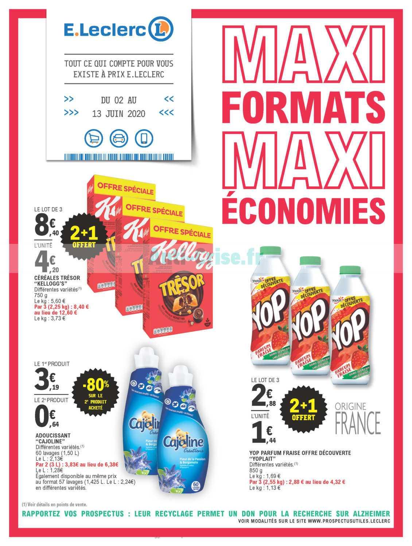 Catalogue Leclerc du 02 au 13 juin 2020 (Maxi Formats)