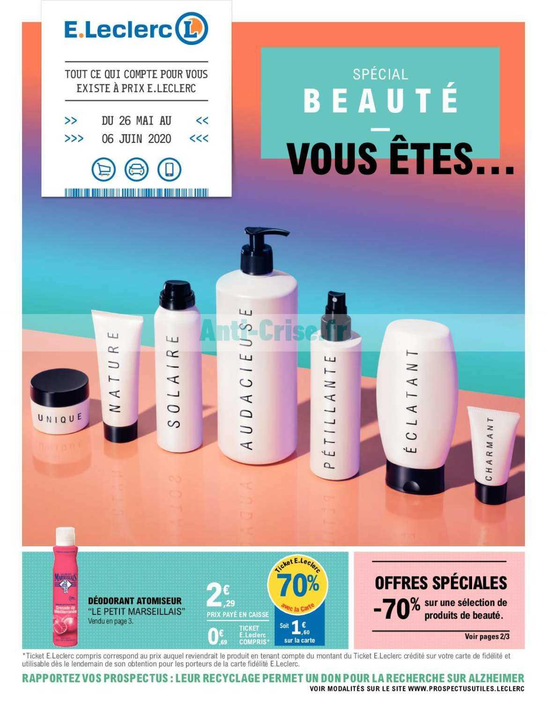 Catalogue Leclerc du 26 mai au 06 juin 2020 (Spécial Beauté)