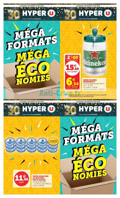 Catalogue Hyper U Du 05 Au 16 Mai 2020 Mega Formats Catalogues Promos Bons Plans Economisez Anti Crise Fr