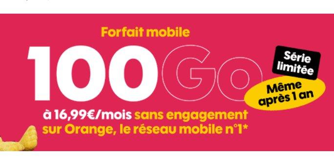 16.99€ par mois le Forfait Sosh Illimité Go en série limitée