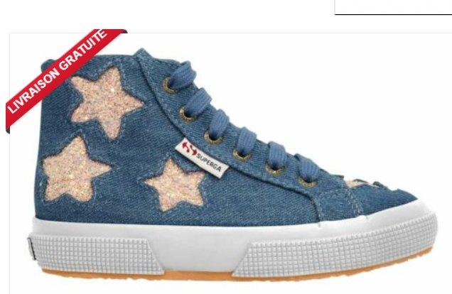 16,7€ les sneakers montantes enfants SuperGa JNSGLTRSTARSJ