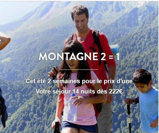 Vacances: 2 semaines pour le prix d'une à la montagne + 20% supplementaires