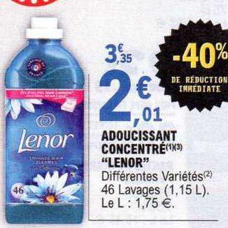 Assouplissant Lenor chez Leclerc (30/06 – 11/07)