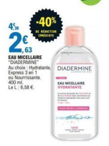 Eau micellaire Diadermine chez Leclerc (16/06 – 20/06)
