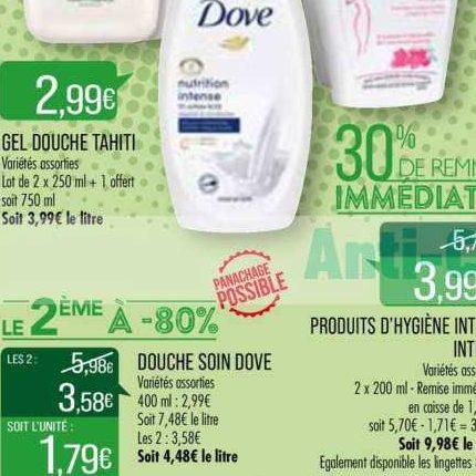 Gel Douche Dove chez Match (30/06 – 13/07)