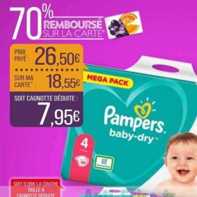 Couches Baby-Dry Pampers chez Match (09/06 – 21/06)