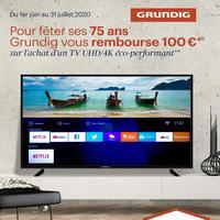 Offre de Remboursement Grundig : 100€ Remboursés sur TV 4K HDR