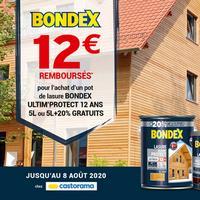 Offre de Remboursement Bondex : 12€ Remboursés sur Lasure chez Castorama