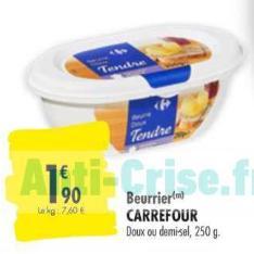 Beurre Carrefour 23/06 au 05/07