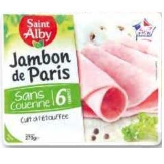 Jambon Saint Alby Lidl du 01/07/2020 au 07/07/2020