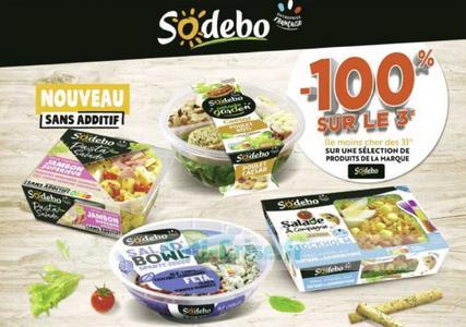Salades Sodebo chez Géant Casino (29/06 – 12/07)