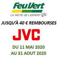 Offre de Remboursement JVC : Jusqu'à 40€ Remboursés sur Autoradio chez Feu Vert