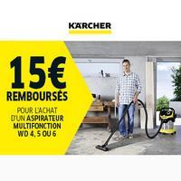 Offre de Remboursement Kärcher : 15€ Remboursés sur Aspirateur multifonction