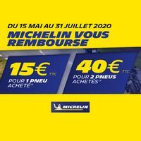 offre de Remboursement Michelin : Jusqu'à 40€ Remboursés sur Pneus Moto