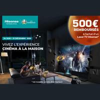 Offre de Remboursement Hisense : 500€ Remboursés sur TV Laser