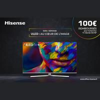 Offre de Remboursement Hisense : 100€ Remboursés sur TV ULED
