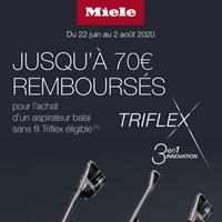 Offre de Remboursement Mièle : Jusqu'à 70€ sur Aspirateur balai sans fil Triflex