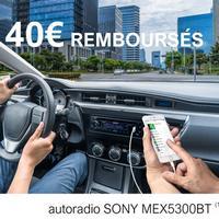 Offre de Remboursement Sony : Jusqu'à 40€ Remboursés sur Autoradio MEXN5300BT