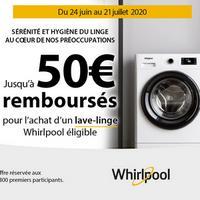 Offre de Remboursement Whirlpool : Jusqu'à 50€ Remboursés sur Lave-Linge