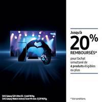 Offre de Remboursement Samsung : Jusqu'à 20% Remboursés sur Univers Mobile et Maison