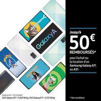 Offre de Remboursement Samsung : Jusqu'à 50€ Remboursés sur Galaxy A71 ou A51