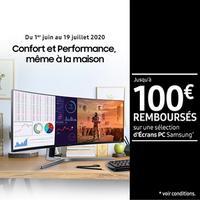 Offre de Remboursement Samsung : Jusqu'à 100€ Remboursés sur Ecran PC
