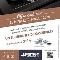 Bon Plan Smeg : 1 Table de cuisson Achetée = 1 Set de Casseroles Offert