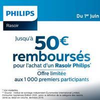 Offre de Remboursement Philips : Jusqu'à 50€ Remboursés sur Rasoir Electrique