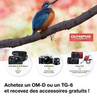Bon Plan Olympus : 1 Appareil Photo Acheté = 1 Accessoire Offert