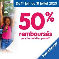 Offre de Remboursement Ravensburger : 50% Remboursés