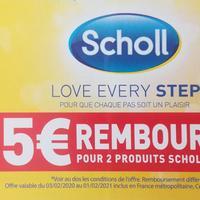 Offre de Remboursement Scholl : 5€ Remboursés sur 2 Produits