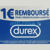 Offre de Remboursement Durex : 1€ Remboursé sur 2 Produits