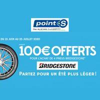 Offre de Remboursement Bridgestone : Jusqu'à 100€ sur les Pneus chez Point S