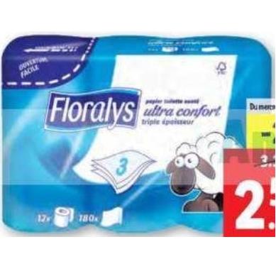 Papier Toilette Floralys Lidl du 01/07/2020 au 07/07/2020