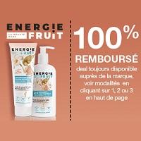 Offre de Remboursement Energie Fruit : Shampoing & Soin 100% Remboursé en Bon d'Achat