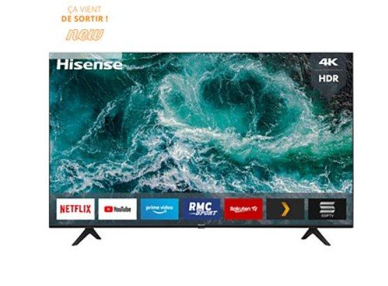 Tv Hisense 58 pouces 58A7100F à 399€