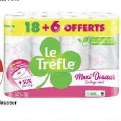 Papier Toilette Le Trèfle Géant Casino 22/06/2020 – 05/07/2020